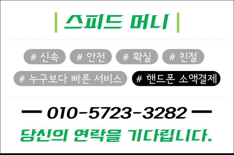 핸드폰소액결제 스피드머니4